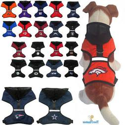 NFL Fan Gear Dog Harness with Hood for Pets Dogs Puppy - ALL