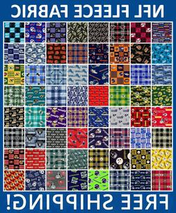 "NFL Fleece Fabric All Teams Sports Collection - 60"" Wide - F"