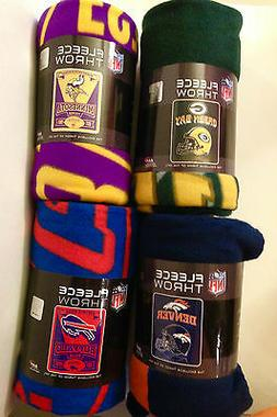 "NFL Fleece Throw Blanket 50"" X 60"" YOU PICK THE TEAM~Mirror"