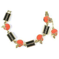 NFL Football Cleveland Browns Gold Charm Bracelet