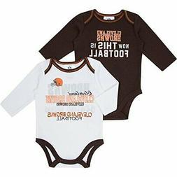 Gerber NFL Infant Baby Cleveland Browns Long Sleeve Bodysuit