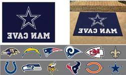 "NFL Man Cave Allstar Area Rugs 34"" x 43"" Choose Team"
