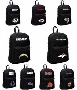 """NFL Team  Concept One 18"""" Black Backpack Bag  NEW!"""
