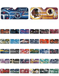 "NFL Windshield Auto Sun Shade 59"" x 29.5"" Steelers Patriots"