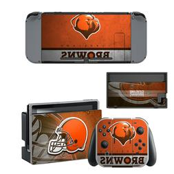 NINTENDO SWITCH - Cleveland Browns - Vinyl Skin Sticker + 2