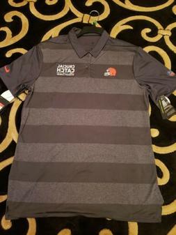 NWT Nike Cleveland Browns Intercept Cancer NFL Football Polo