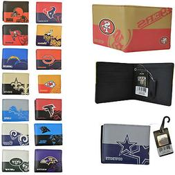NWT NFL Pick Your Teams Men Women Synthetic Leather Bi-Fold