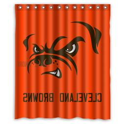 Personalized Cleveland Browns Football 60 x 72 Inch shower c