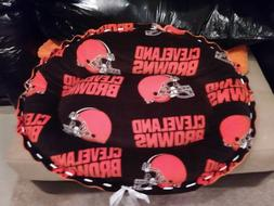 Handmade Pet/Dog Bed CLEVELAND BROWNS Fleece Bed Washable Ma
