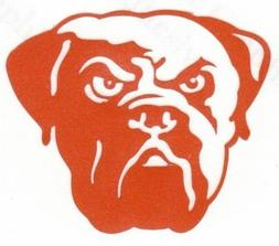 REFLECTIVE Cleveland Browns fire helmet decal sticker up to