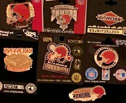 Set of 7 Cleveland Browns Logo Collectors Pins BLOWOUT PRICE