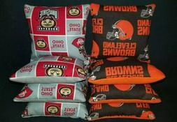 Set of 8 Cleveland Browns Ohio State University Cornhole Bag