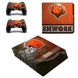 SONY PS4 PRO - Cleveland Browns - Vinyl Skin Set + 2 Control
