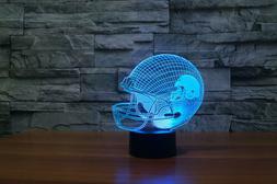 Sport acrylic 3D NFL Cleveland Browns helmet 7 color led tab