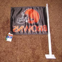 Team NFL Cleveland Browns Car Tailgate Flag Vintage Orange H