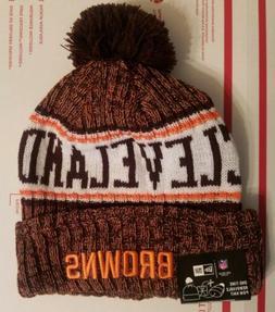 New Era Team NFL Cleveland Browns On Field  Knit Hat one tim