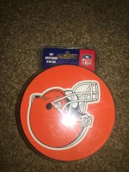 Tin Coasters NFL Cleveland Browns Set of 5 NEW