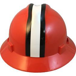 """MSA V-Gard FULL BRIM CLEVELAND """"BROWNS"""" NFL Hard Hat Type 3"""