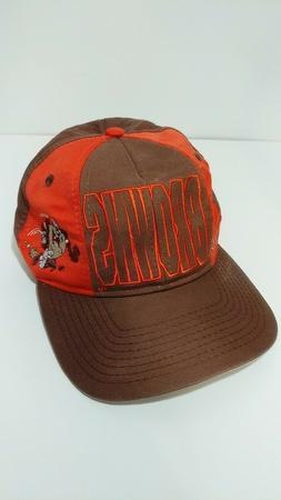Vintage 1991 Cleveland Browns Taz NFL Ball Cap Hat Orange Lo