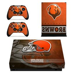 XBOX ONE X - Cleveland Browns - Vinyl Protector Skin + 2 Con